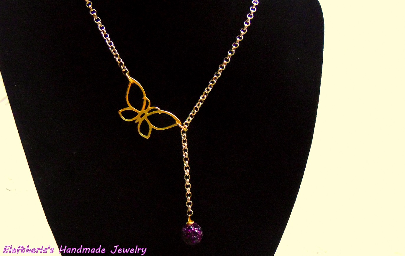 Elegant Butterfly Drop Necklace